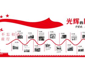 43-微立体党建文化形象墙党建历程党建文化墙1